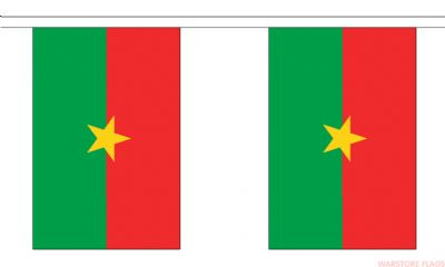 BURKINA FASO BUNTING - 9 METRES 30 FLAGS